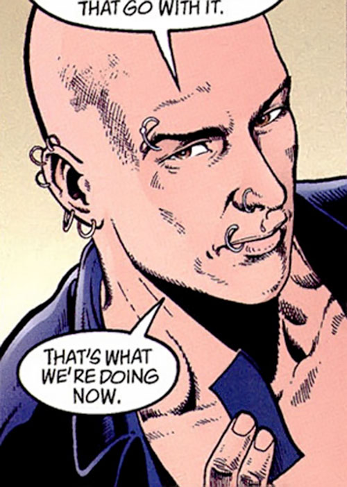 King Mob of the Invisibles (Vertigo Comics) face closeup