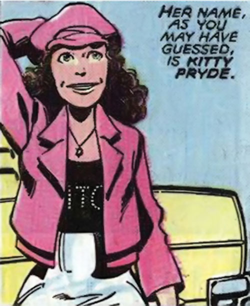 Kitty Pryde of the X-Men (Marvel Comics) (Earliest profile) very first appearance in disco clothing