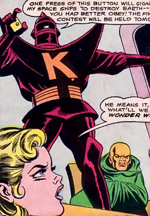 Klamos and Grok (Wonder Woman enemies) (DC Comics) confront Supergirl