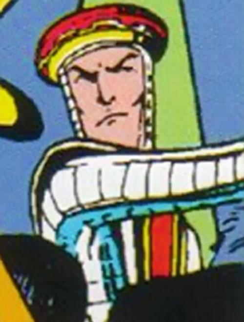 Knave of the Crazy Gang (Excalibur enemy) (Marvel Comics) face closeup