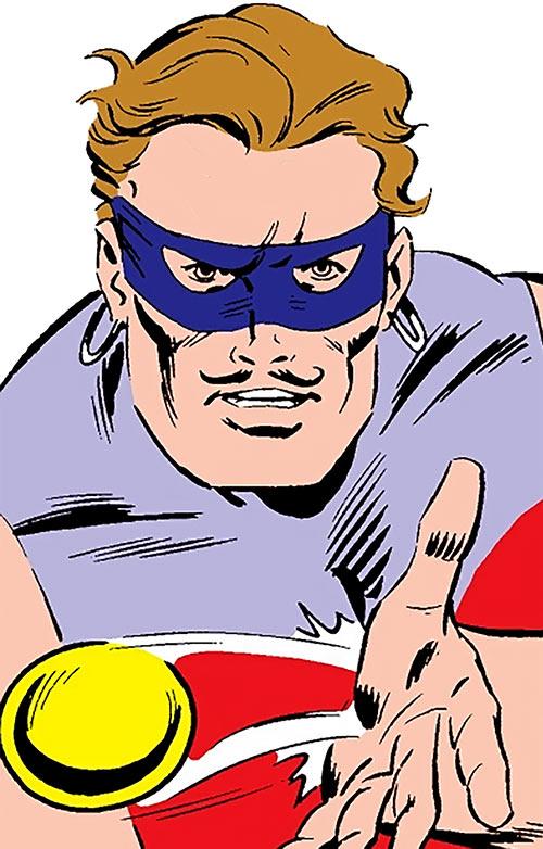 Knickknack of the Death-Throws (Hawkeye enemy) (Marvel Comics) face closeup