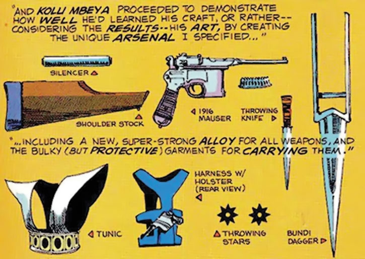 Manhunter (Paul Kirk)'s gear built by Kolu M'Beya