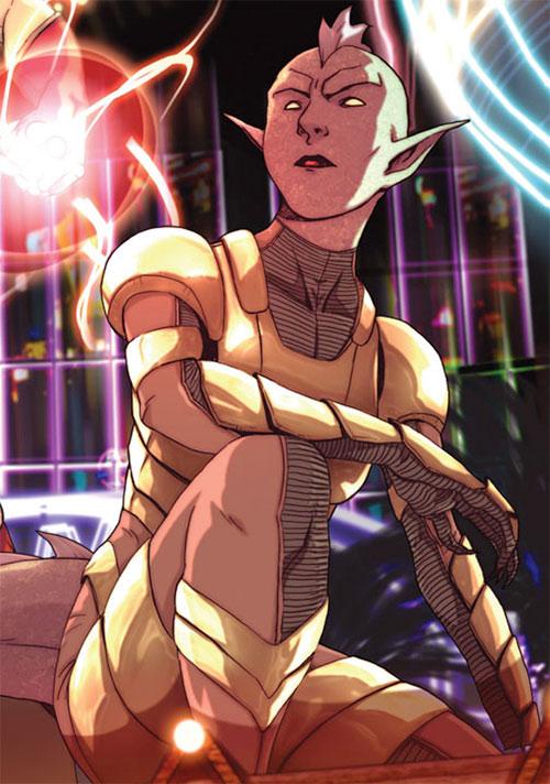 Komodo of the Avengers Initiative (Marvel Comics) in light body armor