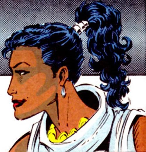 Krystalin of the X-Men 2099 (Marvel Comics) face closeup