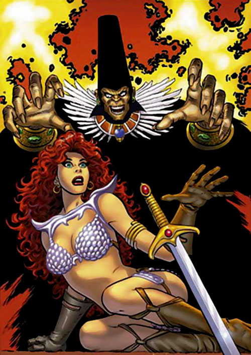Kulan Gath and Red Sonja (Marvel Comics versions)