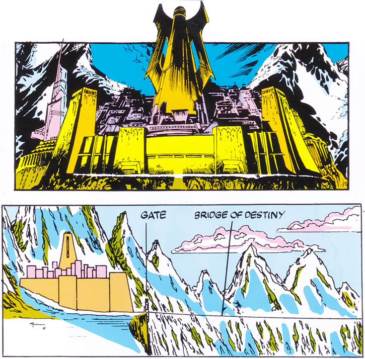 An overview of K'un-Lun from the Marvel Handbook