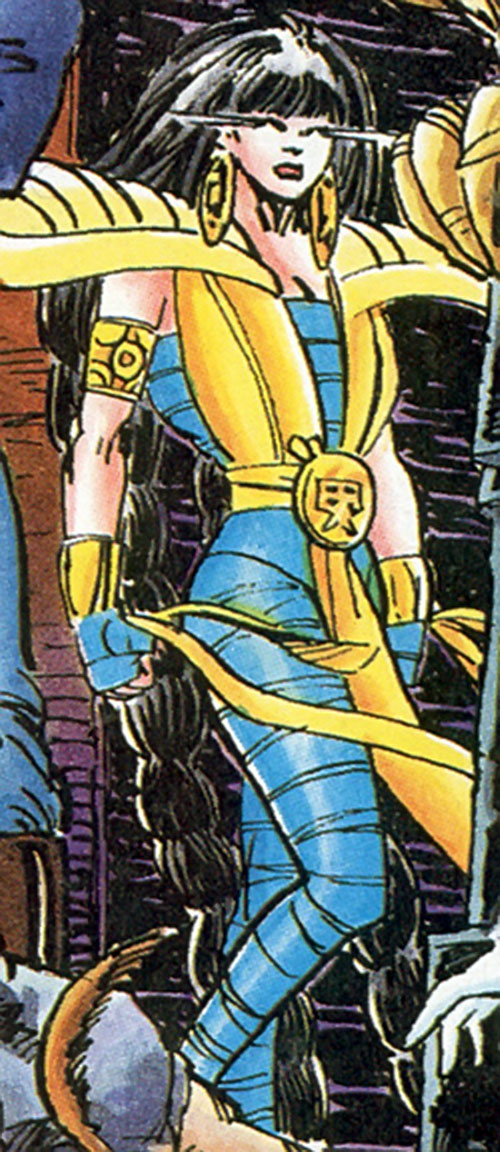 Kwai of the Blood Syndicate (Milestone comics) posing