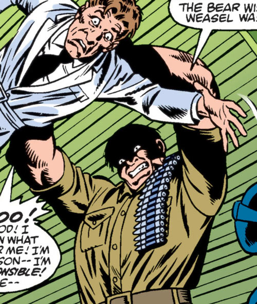 Kwinn the Eskimo - GI Joe - Marvel Comics - Lifting doctor venom