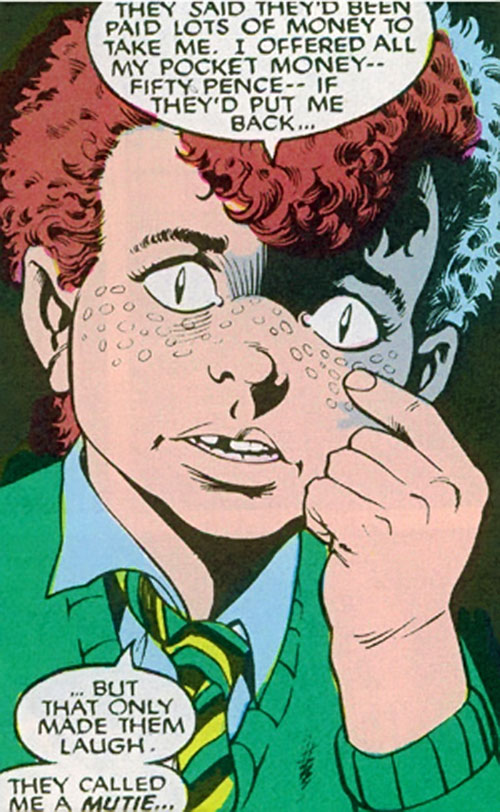 Kylun (Excalibur character) (Marvel Comics) as a child