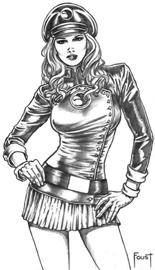 Lady Blackhawk of the Birds of Prey (DC Comics) art by Mitch Foust