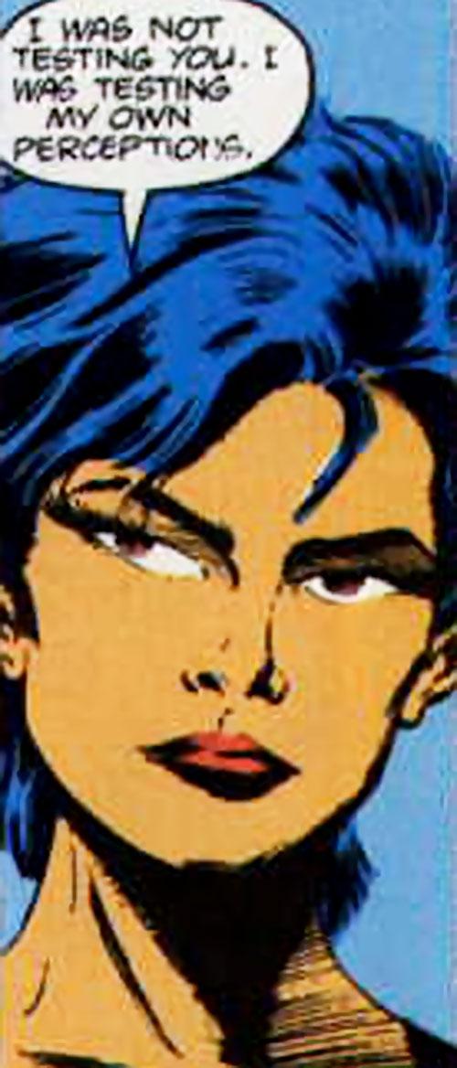 Lady Shiva (The Question) face closeup