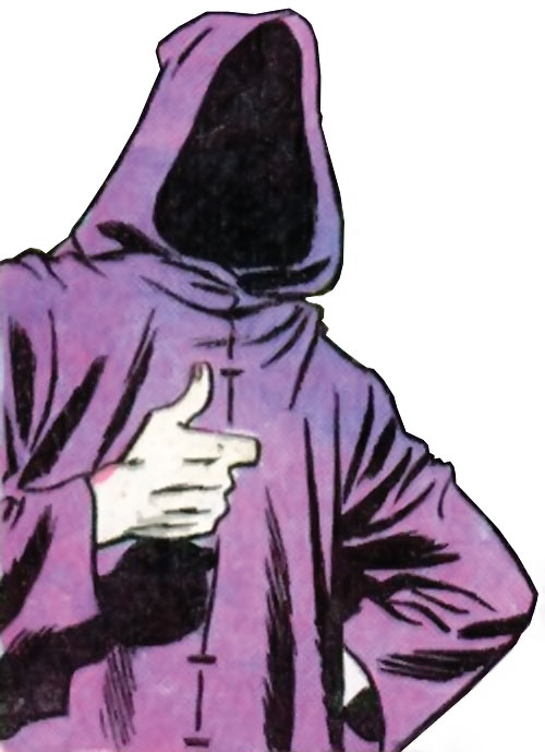 Lady Shiva (Richard Dragon early version) (DC Comics) in a mysterious purple hoodie