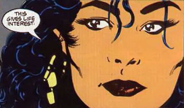 Lady Shiva face closeup