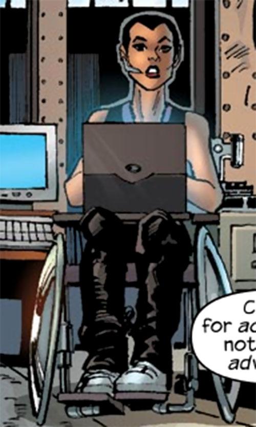 Ladyhawk (Spider-Girl ally) (Marvel Comics MC2) wheelchair