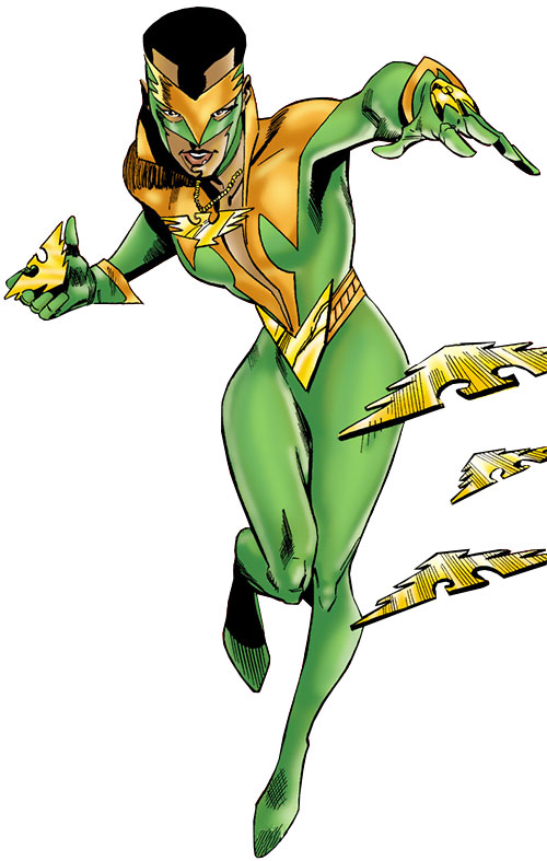 Ladyhawk (Spider-Girl ally) (Marvel Comics MC2) throwing blades