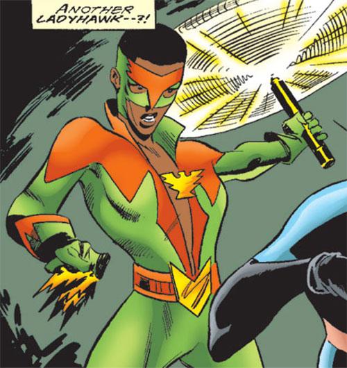 Ladyhawk (Spider-Girl ally) (Marvel Comics MC2) nunchaku