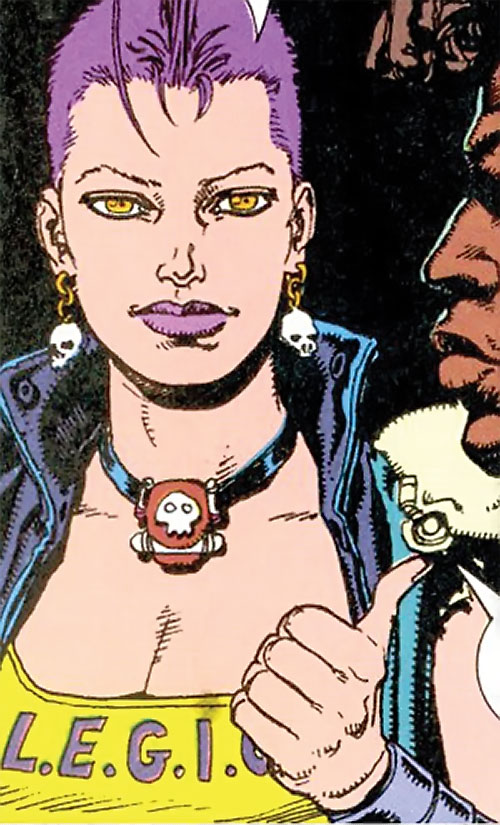 Layla of LEGION (DC Comics Bloodlines) face closeup