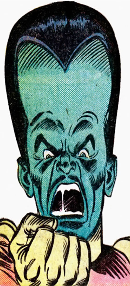 The Leader (Hulk enemy) (Marvel Comics) yelling and shaking his fist