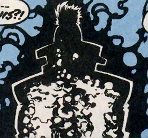 The Left Hand (New Warriors enemy) (Marvel Comics) teleporting with darkforce
