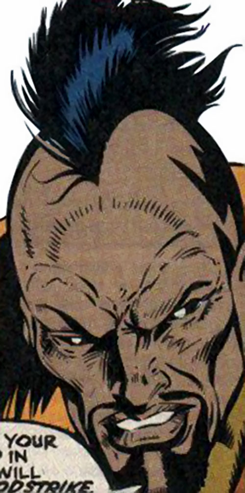The Left Hand (New Warriors enemy) (Marvel Comics) face closeup