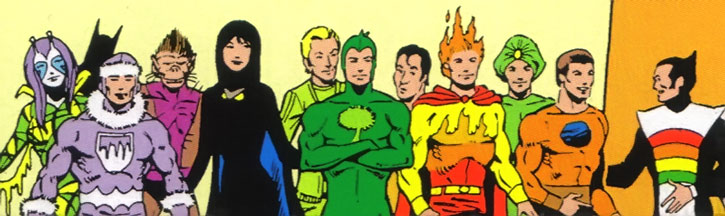 The Legion of Substitute Heroes group shot
