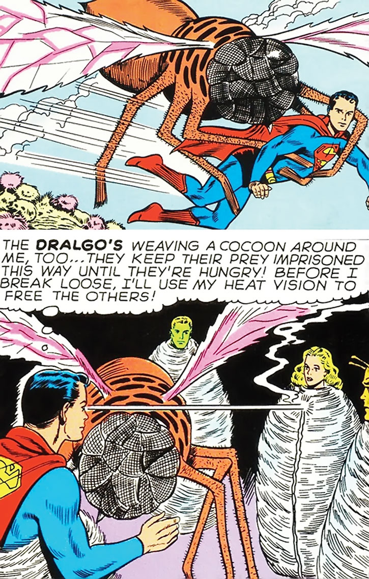 A Dralgo vs. Superboy and the Legion of Super-Heroes