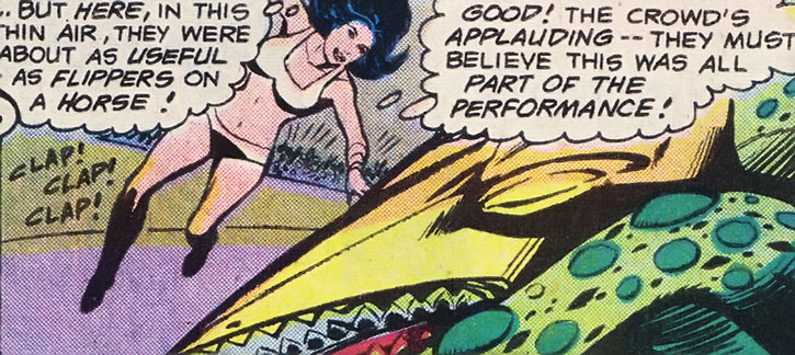 A Jovian Squid fights Phantom Girl
