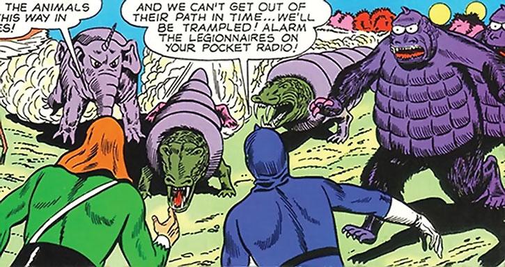 Alien animals stampeding