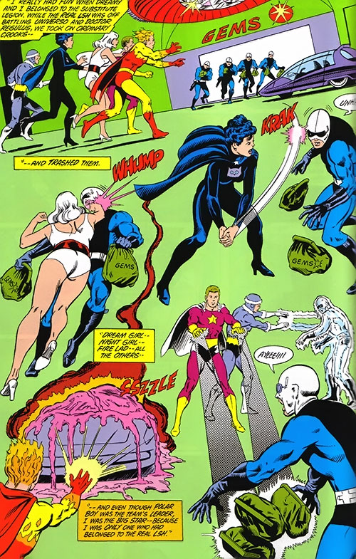 Legion of Substitute Heroes (Subs) (DC Comics) - stopping robbers