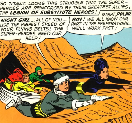 Legion of Substitute Heroes (Subs) (DC Comics) - flying belts