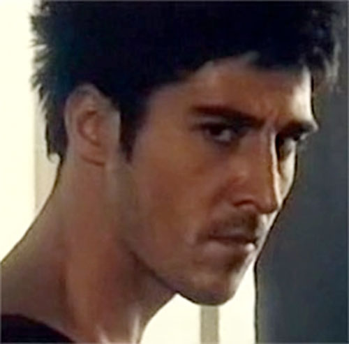 Leito (David Belle in District B13 / Banlieue 13) face closeup