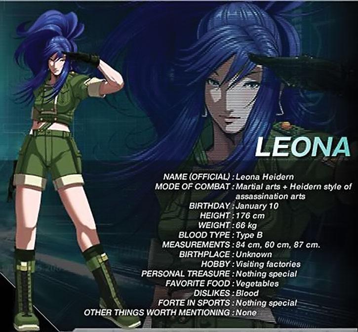Leona Heidern character details