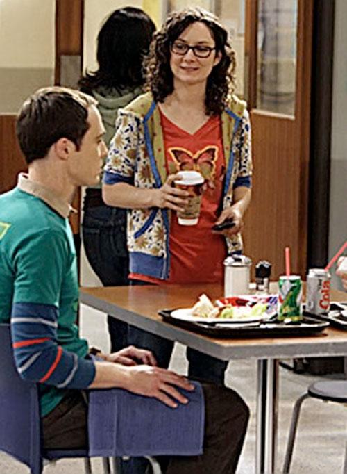 Leslie Winkle (Sara Gilbert in Big Bang Theory) and Sheldon