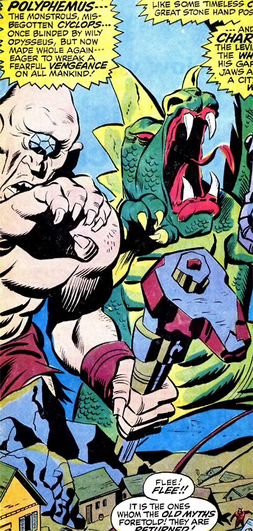 Polyphemus and Charybdis in the Marvel Universe