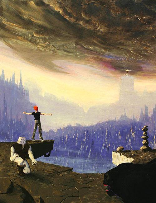 Lester Chaykin (Another World) contemplates an alien vista