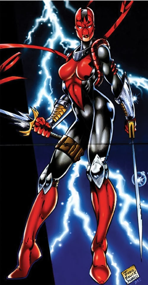 Lethal (Brigade) and a lightning bolt