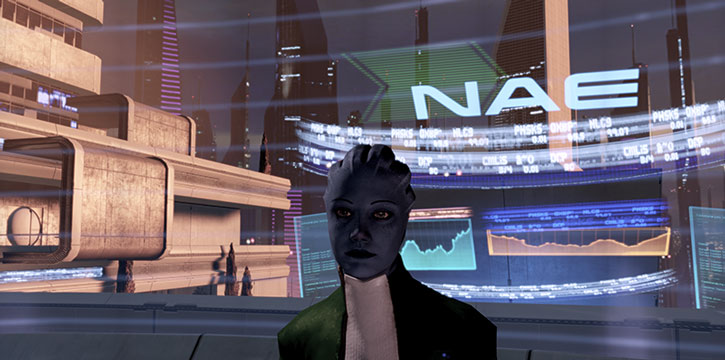 Liara in her office in ME2