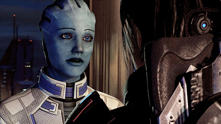 A tired and emotional Liara in ME2