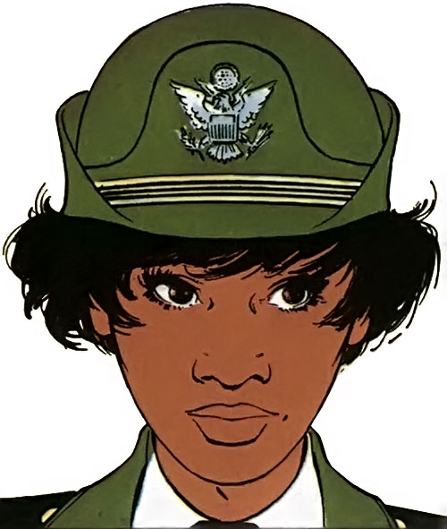 Lieutenant Jones (XIII comics) with her Army Aviation hat
