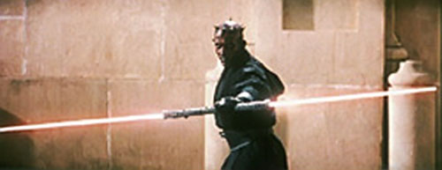 Darth Maul with a dual lightsaber