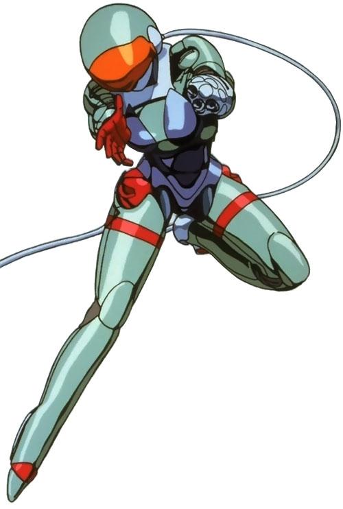 Linna Yamazaki of the Knight Sabres (Bubblegum Crisis) in her hardsuit