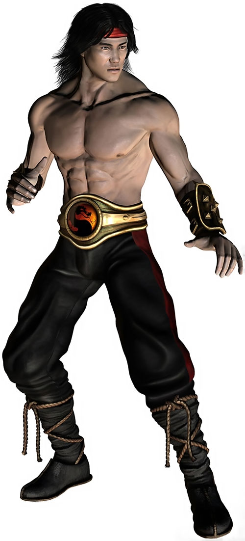 Liu Kang (Mortal Kombat) and his dragon belt