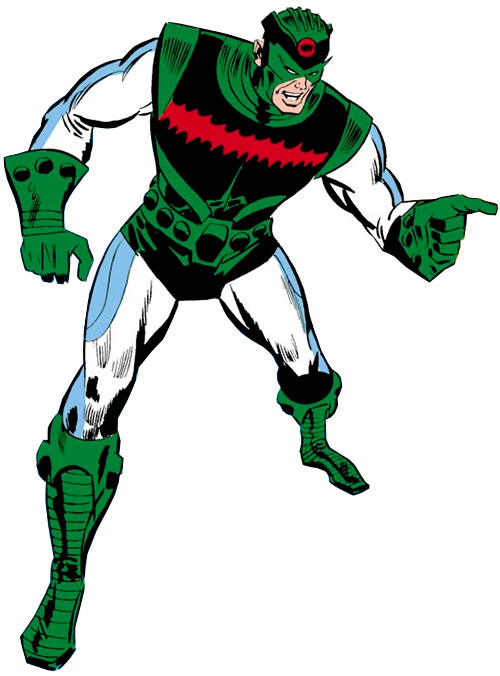 Living Laser (Early) (Marvel Comics) (Avengers enemy) white and green costume