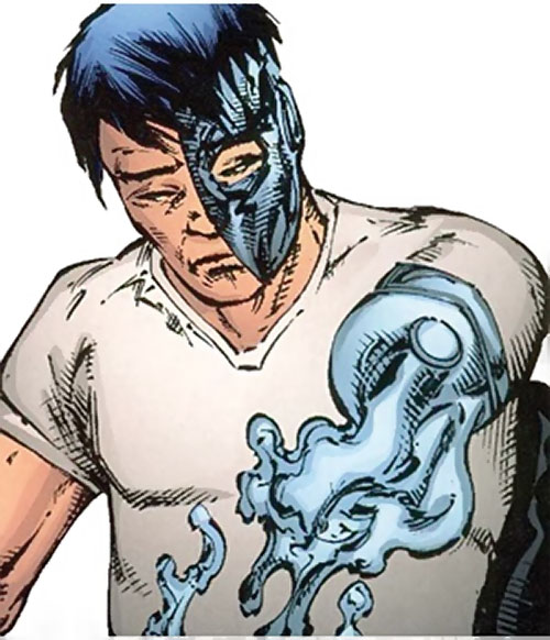 Lord Havok of the Extremists (DC Comics) assembling his cybernetic arm