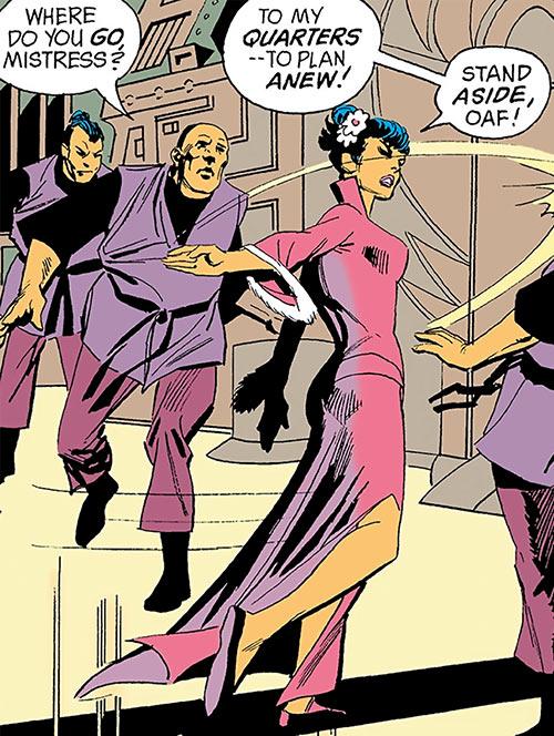 Lu Shan (Wonder Woman enemy) (DC Comics) slaps a henchman