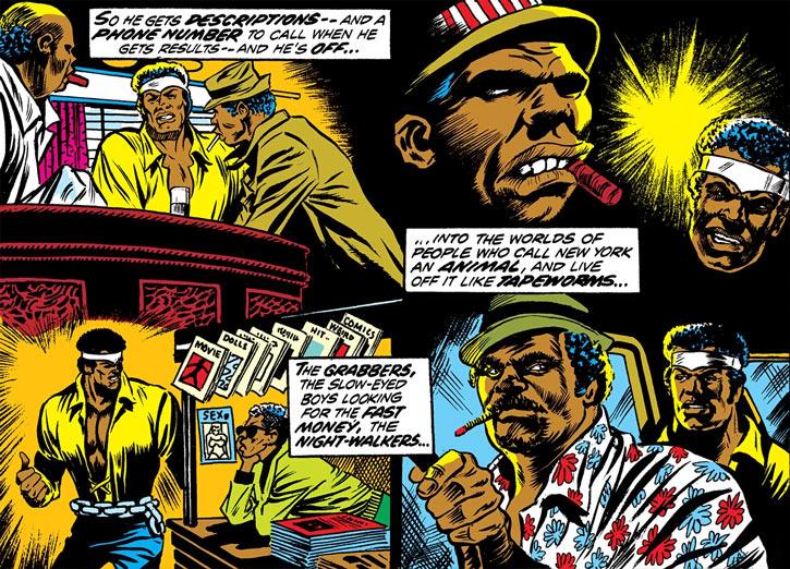 Power Man (Luke Cage) does legwork in Harlem