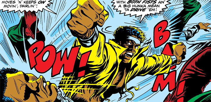 Luke Cage in a brawl