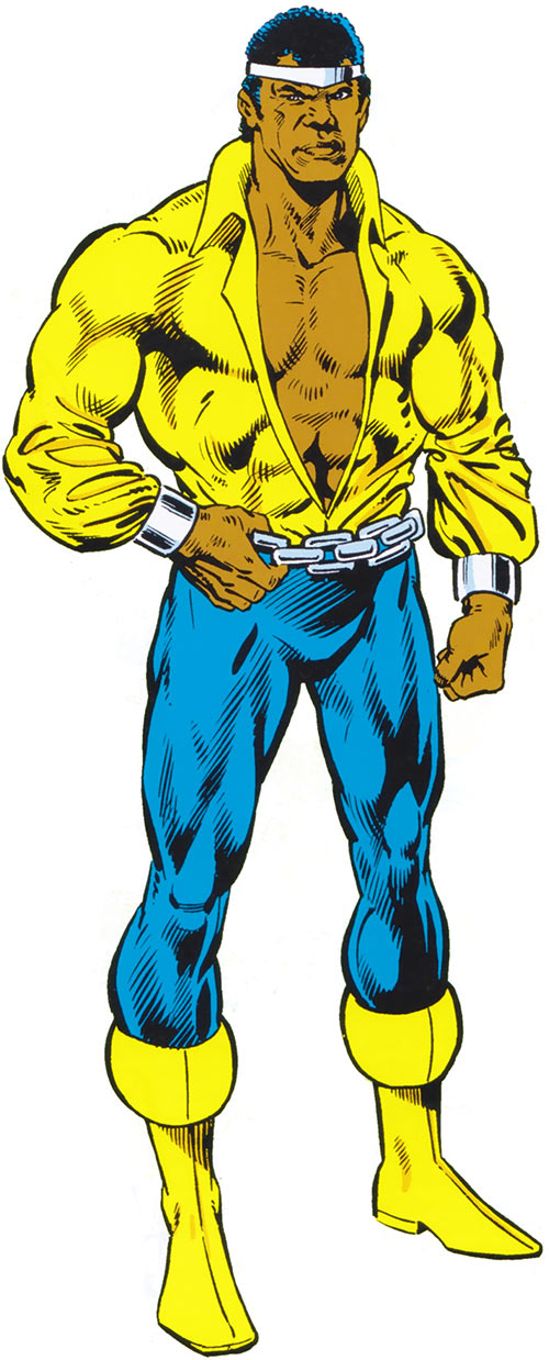 Luke Cage the 1970s hero for hire (Marvel Comics) from the older handbook