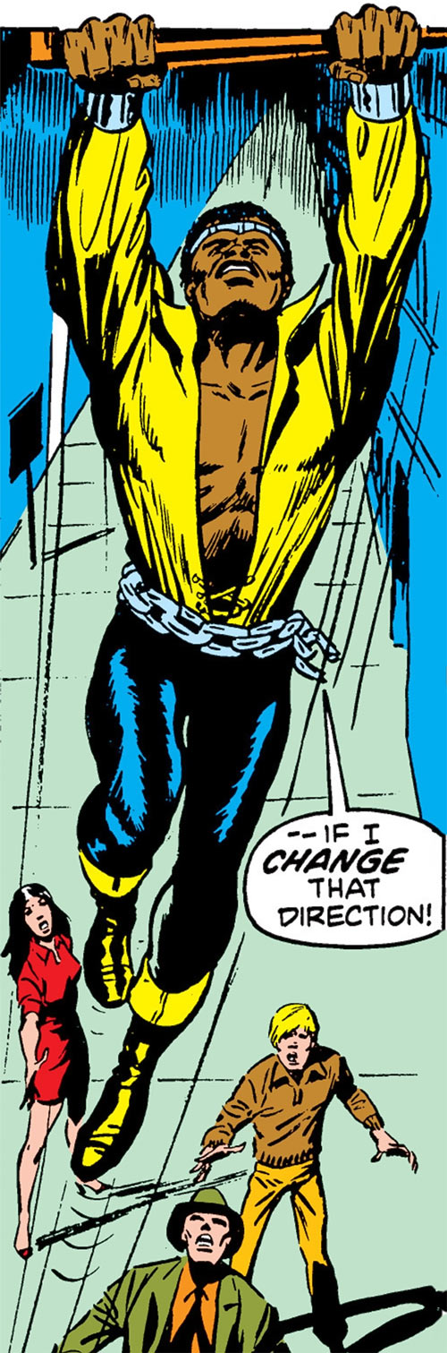 Luke Cage the 1970s hero for hire (Marvel Comics) superhuman leap