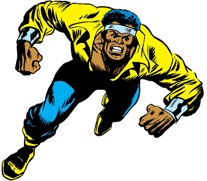 Early Luke Cage (Marvel Comics) charging